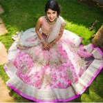 Strawberry Floral Lengha
