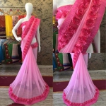Pink Rose Saree