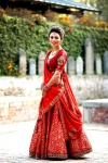 Dazzling Red Lengha