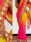 Yellowpink saree