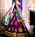 New Purple Lengha