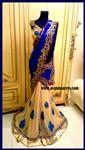 K Blue Lengha saree