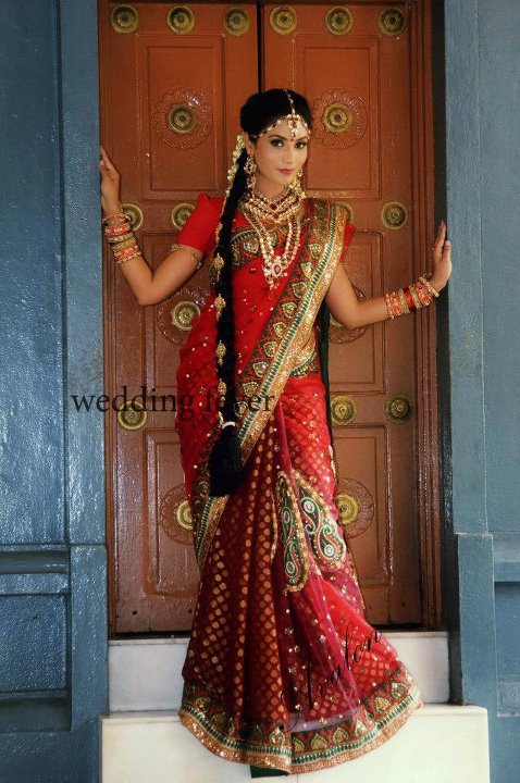 Jasmine Hot Red Celebrity Sarees